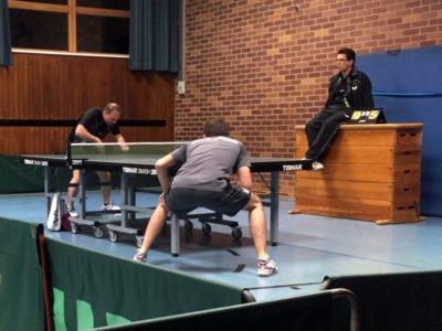 Tischtennis Punktspiel der 2. Bezirksliga beim TTC Perlach