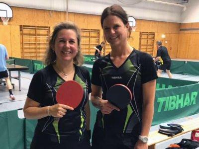 Tischtennis Frauendoppel in der Herren Kreisliga