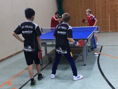 Tischtennis Kreiseinzelmeisterschaft der Jugend, TTC Perlach im Doppel