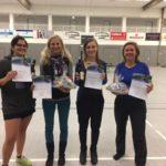 Siegerehrung Damen A Doppel beim 18. Gebrüder-Apfelbeck-Turnier 2017